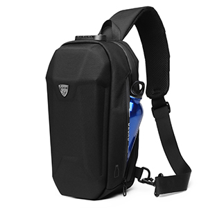 Sling bag with water bottle pocket