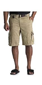 Society of One by DXL Big and Tall Rumpled Cargo Shorts