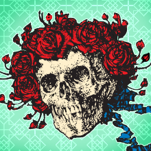 Grateful Dead, Skull, Roses, Berth, Skeleton, Jam Band, Psychedelic, Garcia, Weir, Lesh