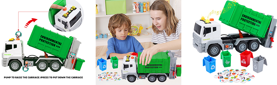 Grande Camion Giocattolo Camion Immondizia Giocattolo