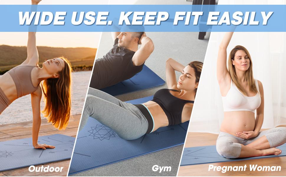 yoga mat non slip yoga mats for women thick yoga mat for home yoga mat for exercise large yoga mat