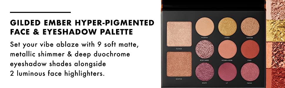 Milani Gilded Ember Hyper-Pigmented Face & Eyeshadow Palette