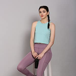 women casual tank top sleeveless racerback cotton vest gym sports vest tshirt dance yoga tank top