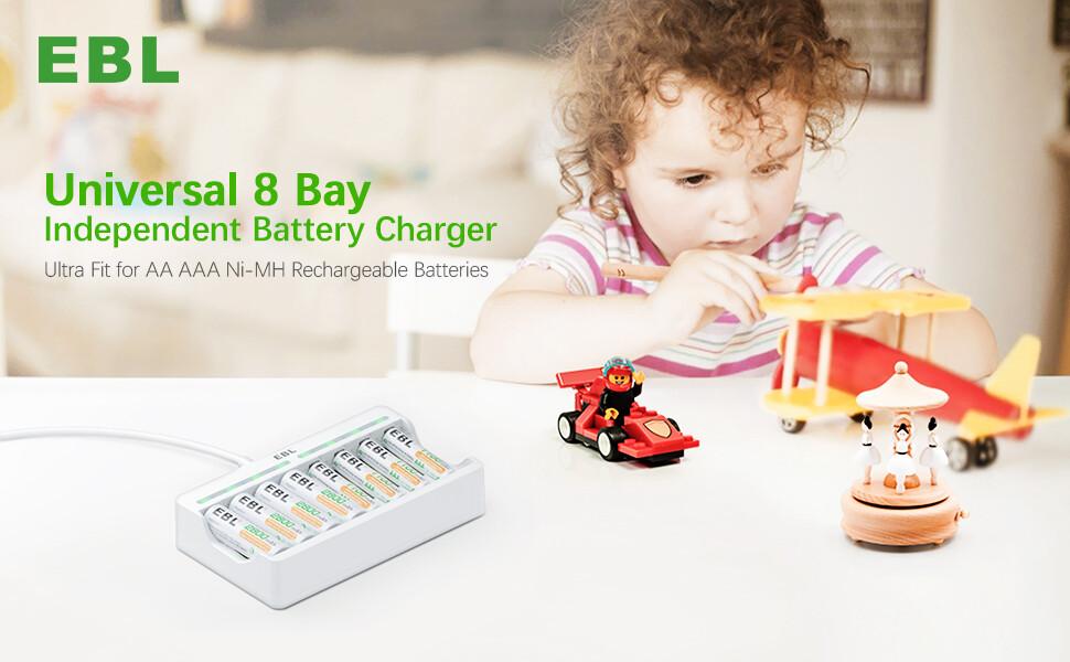 EBL 8 Bay AA AAA Battery Charger