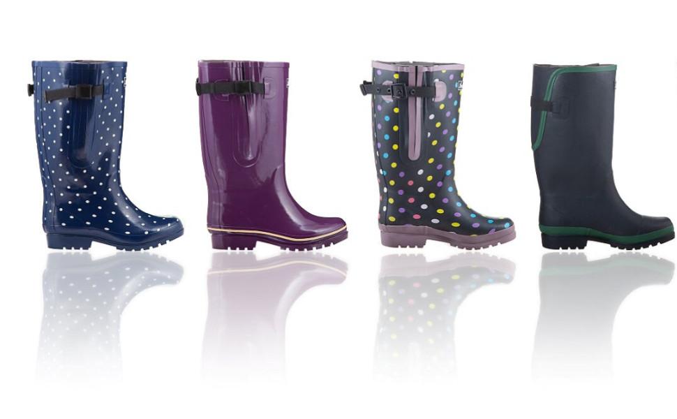 Jileon Extra Wide Calf Rain Boots for