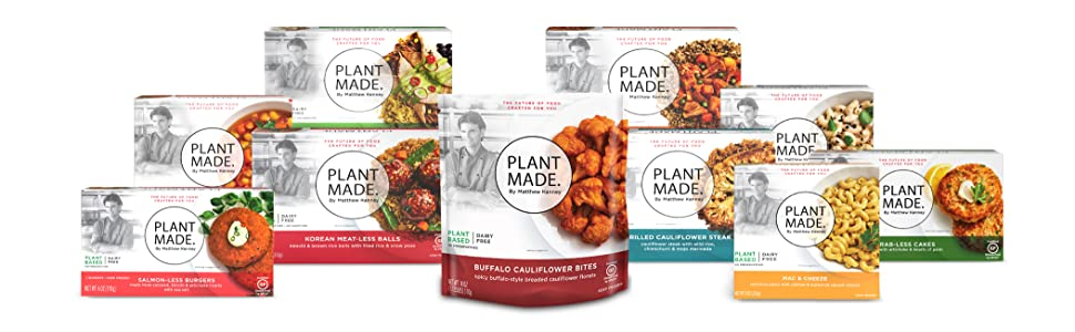 Plant Made by Matthew Kenney gluten free, dairy free, vegan and plant based, frozen meals