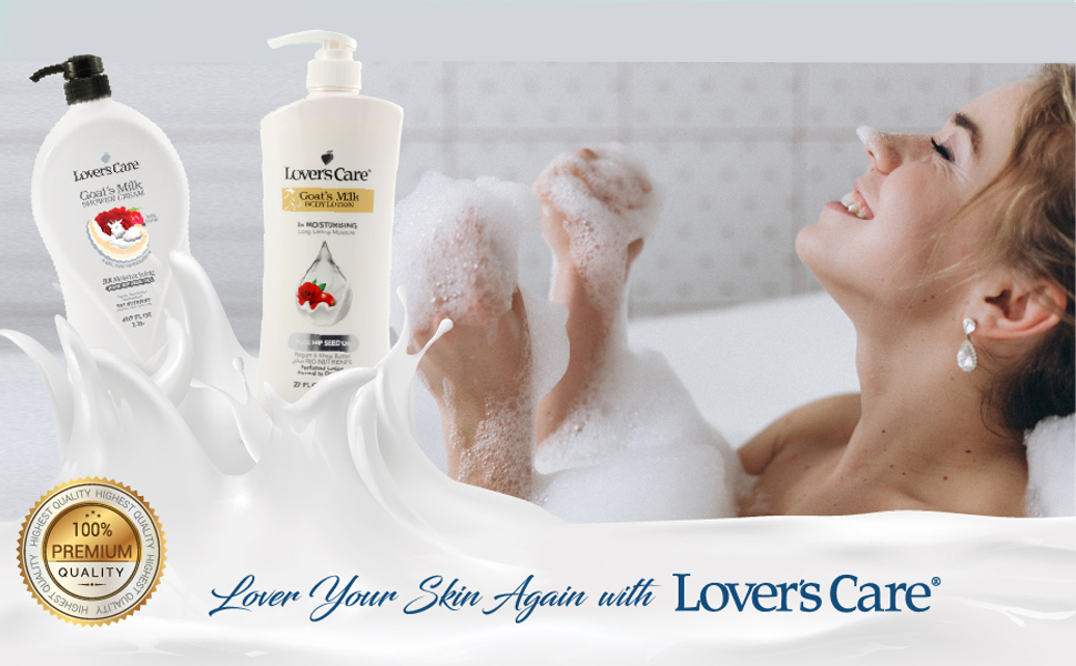 loverscare lover's care lovercare body washes shower gel body lotion moisturizer goat milk showergel