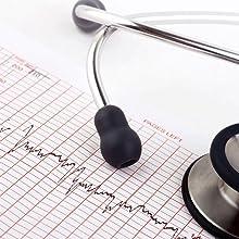 stethoscope aluminum dual head chest piece doctor adult student pediatric