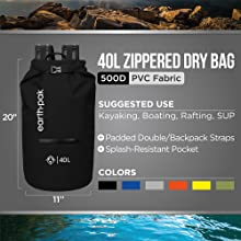 dry bag, waterproof bag, earth pak