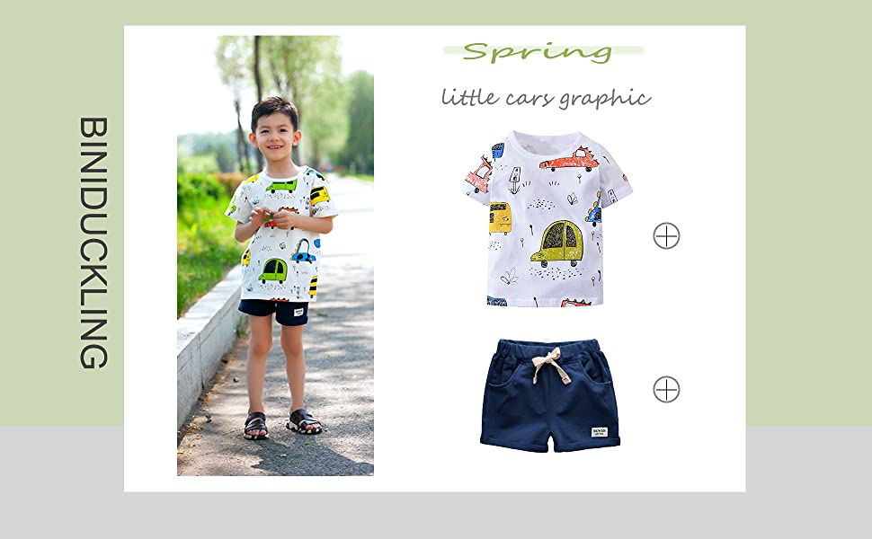 boy short sleeve t shirt and shorts toddler summer outfit