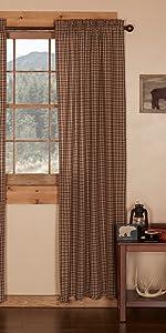 Prescott Curtains primitive country rustic Americana VHC Brands window valance prairie swag panel
