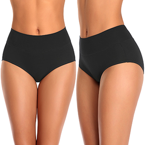 Womens Firm Control Briefs High Waist Knickers Underwear Size S-XXL BF PO22
