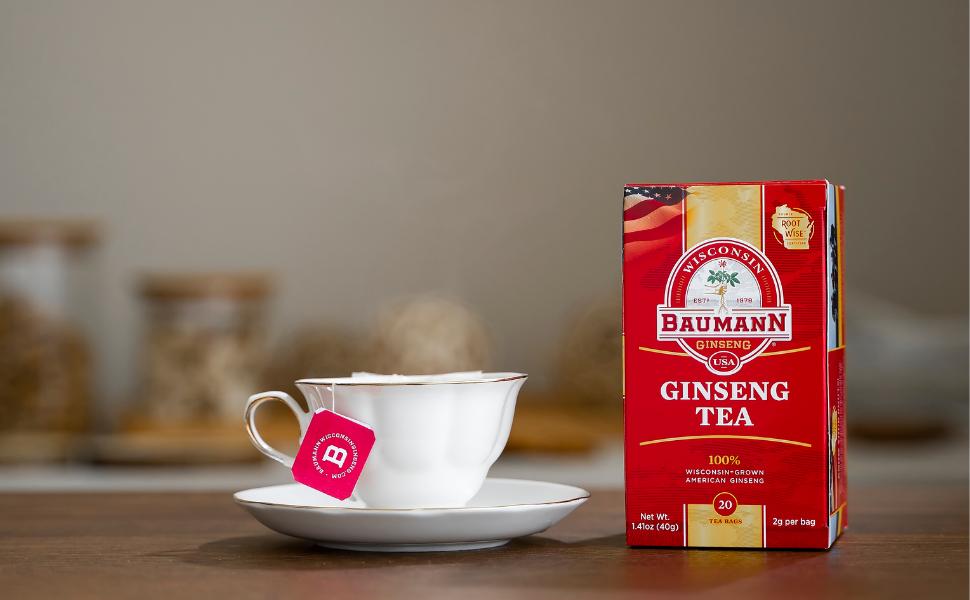 Ginseng Tea - American Ginseng Root - Baumann Ginseng