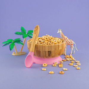 children bamboo tableware natural strength anti bacteria neat colourful suction