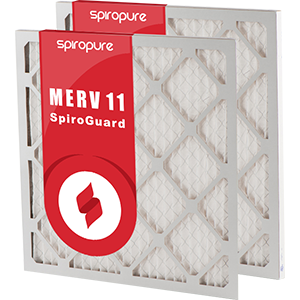 6 Pack Made in USA SpiroPure 29.38x31.75x2 MERV 11 Pleated Filter Air Filters