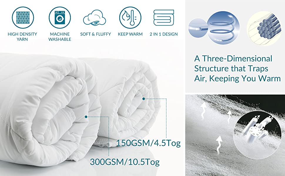 selling points of the Bedsure Down Alternative Duvet Set Double
