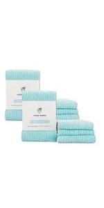 cotton terry barmop bar mop kitchen dish towel cloth machine washable set pack