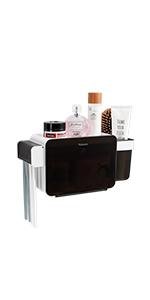 Adhesive Toothbrush Holder Wall Mounted Bathroom Toothpaste Caddy Organizer Shower Shelf Storage Box