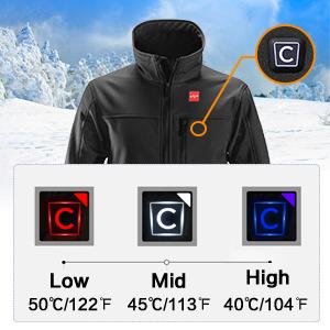 heated men jacket