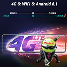 Android 8.1 system & wifi & 4G