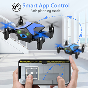 Flashandfocus.com 32eadb4c-52cd-4549-b48b-675f229d263c.__CR0,0,300,300_PT0_SX300_V1___ Mini Drone with camera for KidsBeginners , Foldable Pocket RC Quadcopterwith App Gravity Voice Control Trajectory Flight, FPV Video, Altitude Hold, Headless Mode, 360°Flip, Toys Gifts for Boys Girls