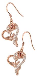 rose gold heart necklace set
