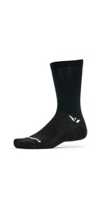 Swiftwick Performance Seven, Black Tall Crew Socks, Cycling Socks, socks for cycling, biking socks