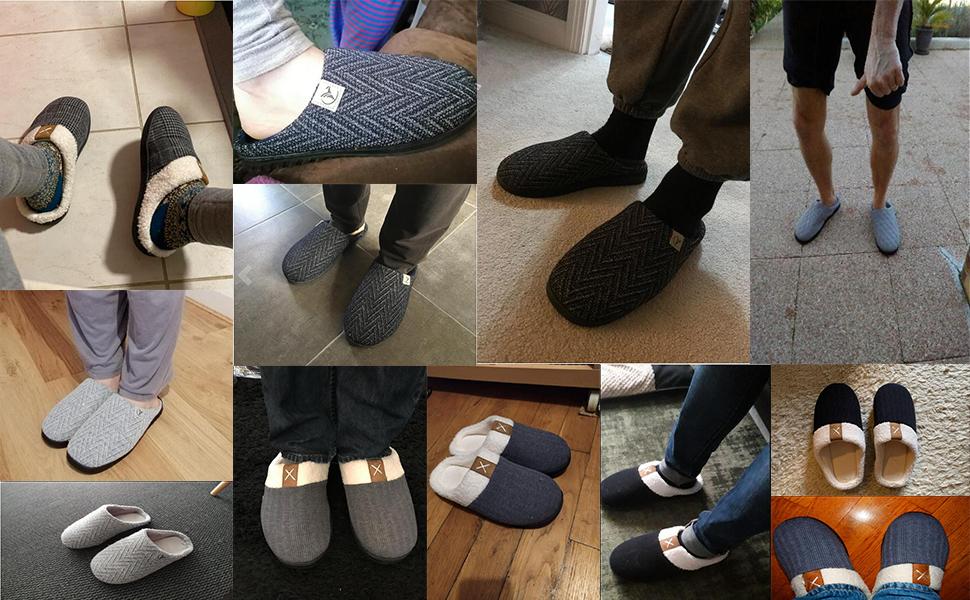 incarpo Zapatillas de Estar en Casa Hombre