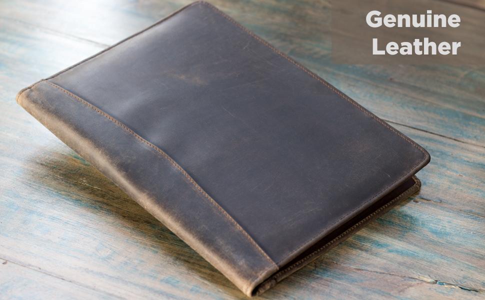 leather folder portfolio documents