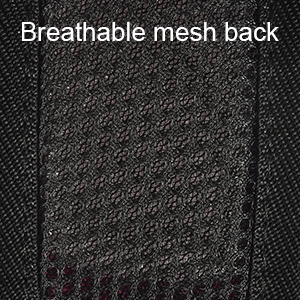 breathable mesh back