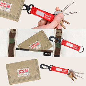 rough enough canvas wallet for kids boys with key tag chain holder key ring for home key car key fob