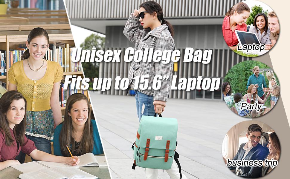 Vintage College School Laptop Backpack