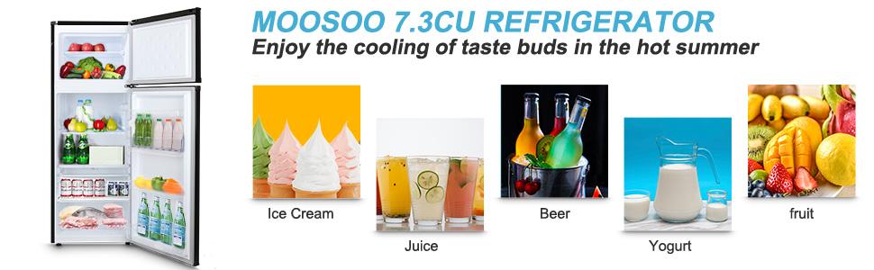 MOOSOO 7.3 Cu.Ft Compact Refrigerator