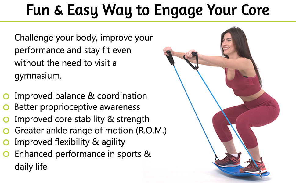 Balance fit board improves balance & coordination.