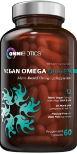 Vegan MD-Certified Prenatal DHA Fish-Free Omega Essential Fatty Acid Algal 3 6 60 vegetarian softgel