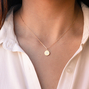 a letter necklace