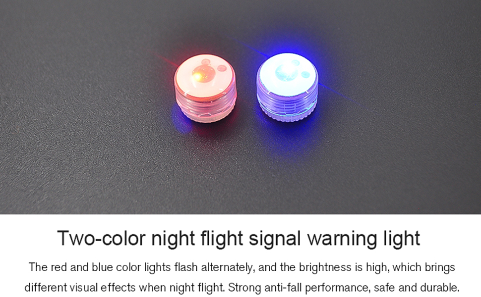 Mavic Mini 2 LED flashing light is available in red and blue colors