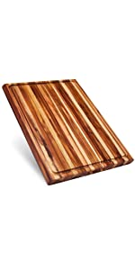 extra large wood teak cutting board