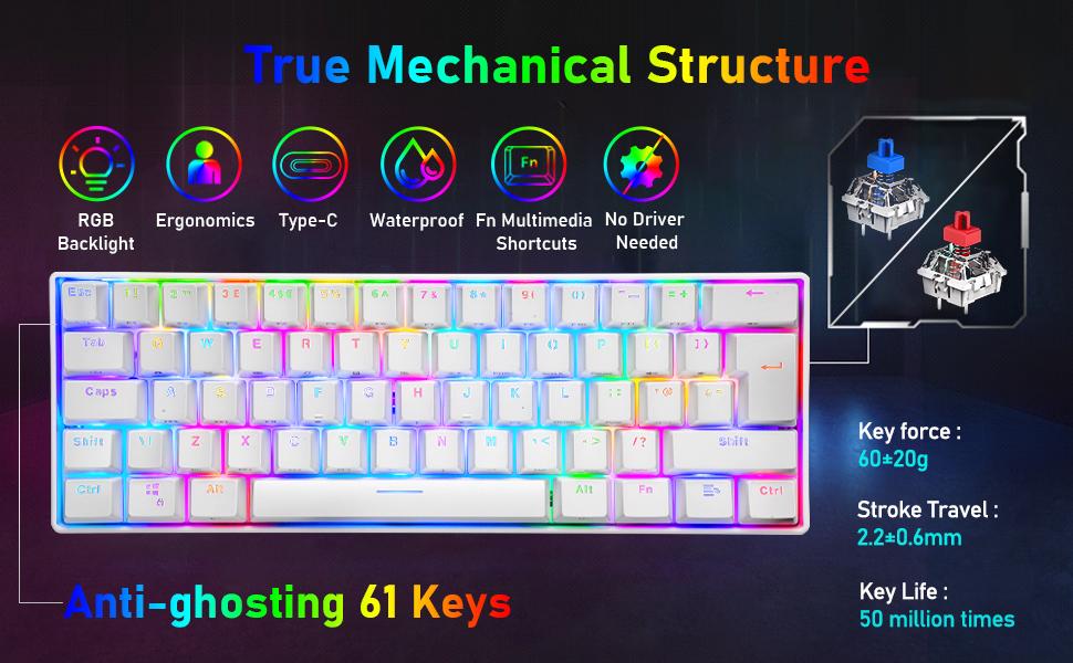 RGB mechanical gaming keyboard
