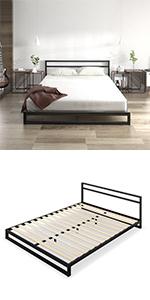 Zinus SSBFH Metal Bed Frame