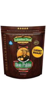 don pablo colombian decaf light roast beans decaf 5 lb