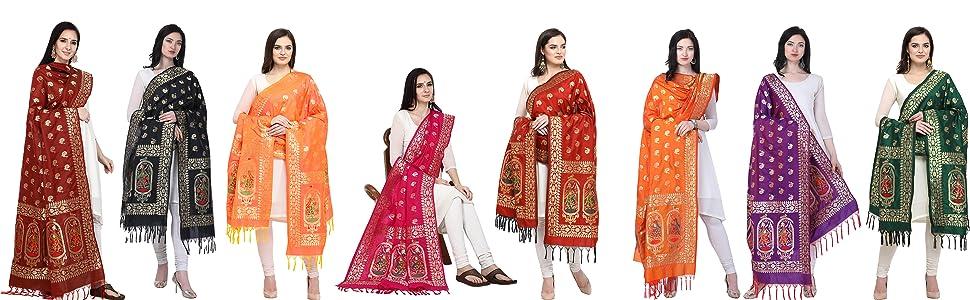 banarasi dancing doll panihari silk dupatta collection PAIR WITH LEHENGA CHOLI