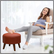 keep feet pregnant woman swollen foot relax elevate high doctor recommended comfortable stool pouf