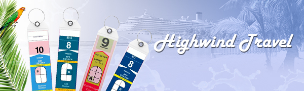 Highwind Cruise Luggage Tags Ship Cruise Essentials