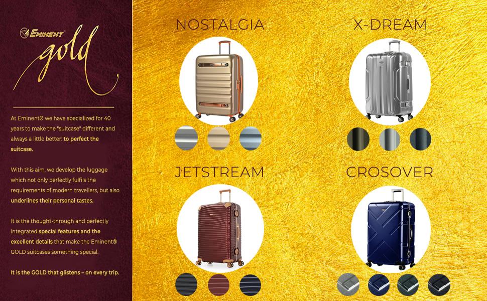 kofferorganizer reisekoffer 4 rollen kofferband trolley leicht S'Cure Eminent Move Air pilotenkoffer