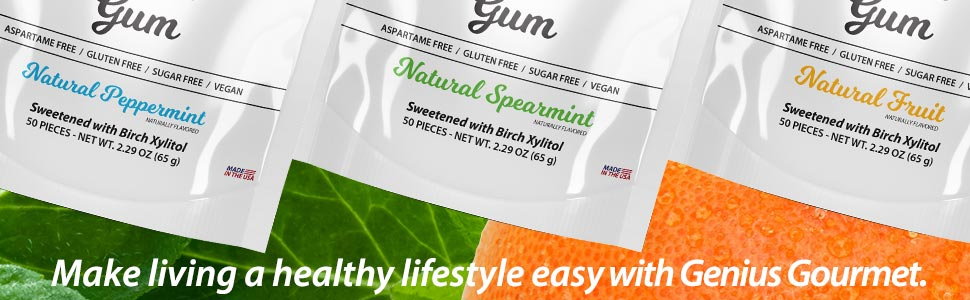 genius gourmet keto gum low carb sugar free aspartame free xylitol fruit keto candy sweets