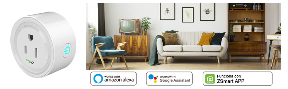 enchufe inteligente wifi inalámbrico amazon alexa google home control remoto mini toma ios android