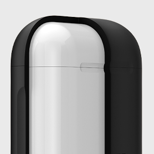 Spigen Silicone Fit Designed for Apple Airpods Case Cover for Airpods 1 & 2- Black