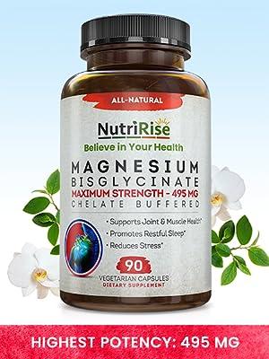 magnesium bisglycinate adrenal support knee migraine relief metabolism booster