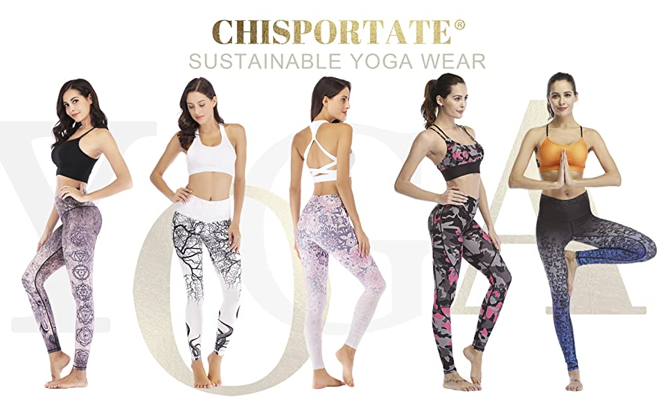 Chisportate High Waisted Capri Leggings Pants for Yoga, Pilates, Workout, Running and daily wear.